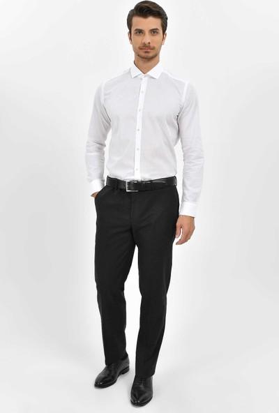 Hatemoğlu Erkek Beyaz Slim Fit Gömlek