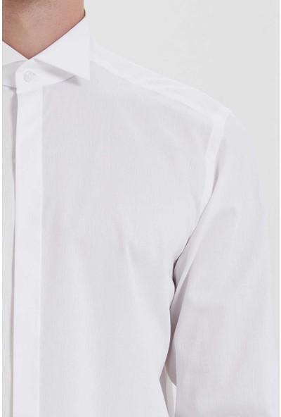 Hatemoğlu Erkek Beyaz Cerimonia Regular Gömlek