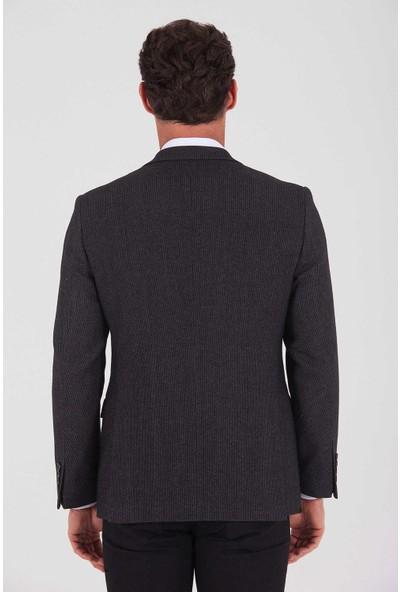 Hatemoğlu Erkek Kahverengi Desenli Dinamik Ceket
