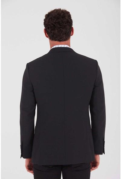 Hatemoğlu Erkek Siyah Slim Fit Ceket