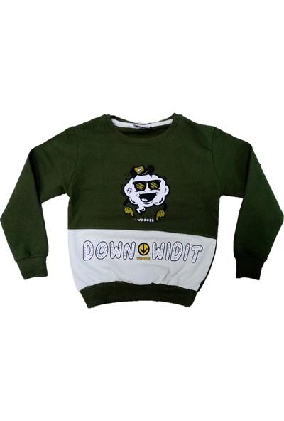 Wkc Kids Erkek Çocuk Dar Kalıp Down Wigit Desenli Sweatshirt