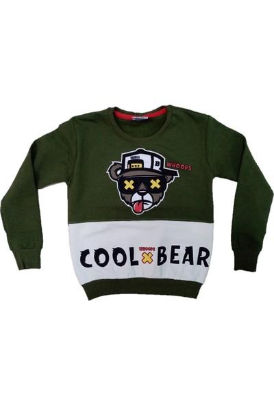 Wkc Kids Erkek Çocuk Dar Kalıp Cool Bear Desenli Sweatshirt