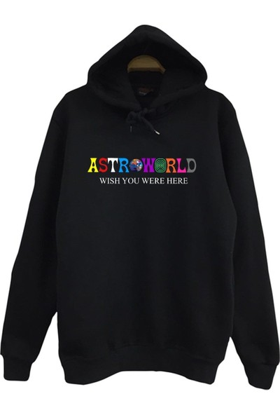 Stoned Travis Scott Astroworld Baskılı Kapüşonlu Unisex Sweatshirt