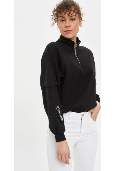 DeFacto Fermuarlı Sweatshirt