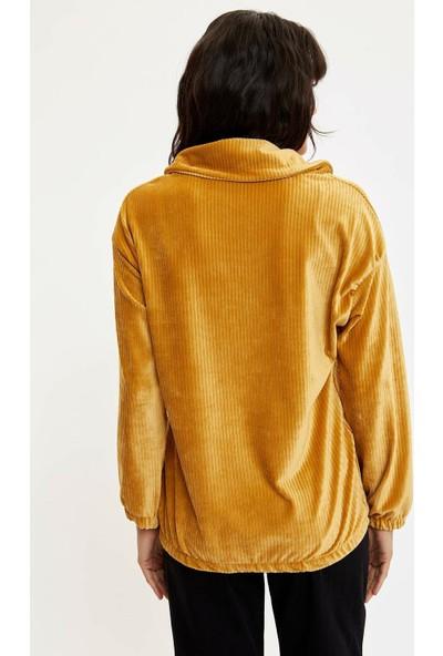 DeFacto Baskılı Kapüşonlu Sweatshirt