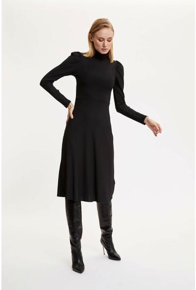 DeFacto Beli Kemerli Örme Elbise N9833AZ19CW