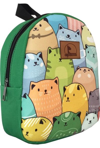 Alpacca Renkli Kediler Çanta