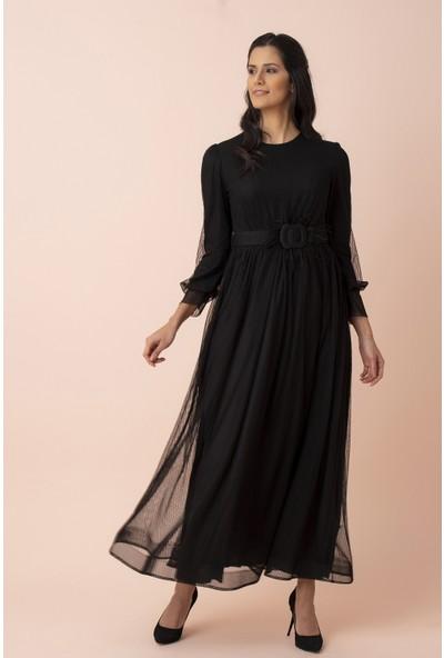 Arda New Line Kadın Siyah Tesettür Abiye Elbise 3562042.01