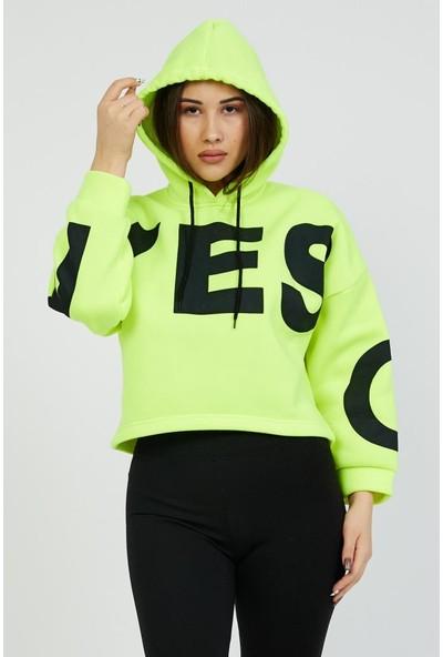 Asfa Moda Yes Kapüşonlu Oversize Sweatshirt 7021
