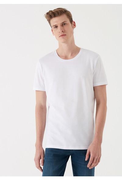 Mavi Beyaz Tişört