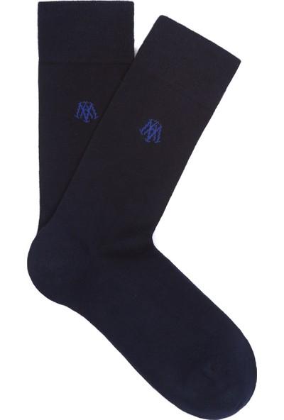 Mavi Lacivert Uzun Çorap 090250-26828