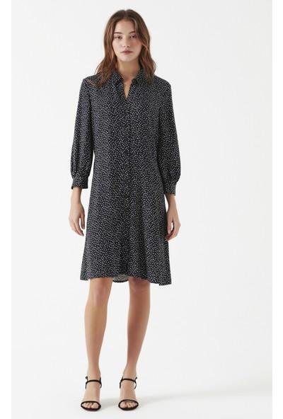 Puantiyeli Siyah Elbise 130826-28614