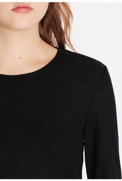 Uzun kollu Siyah Basic Tişört 168311-900