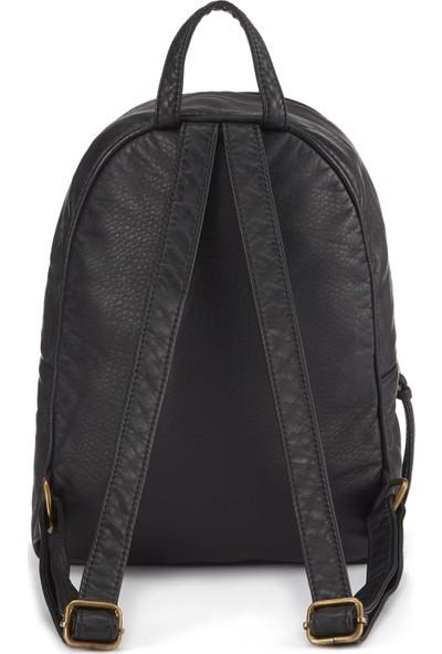 Fermuar Detaylı Siyah Sırt Çantası 195679-900
