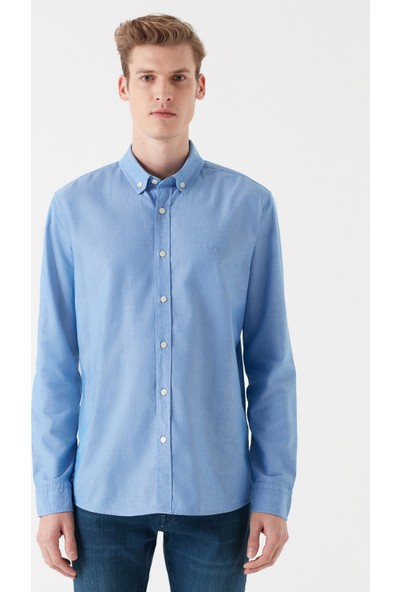 Mavi Erkek Mavi Oxford Gömlek 020033-30718