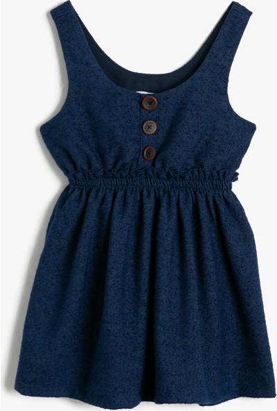 Koton Kız Çocuk Dügme Detaylı Elbise