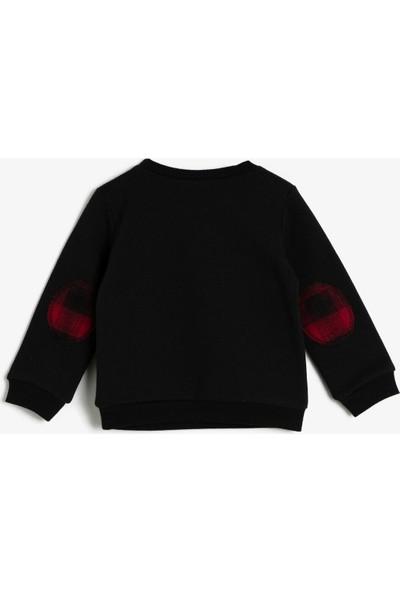 Koton Erkek Bebek İşlemeli Sweatshirt