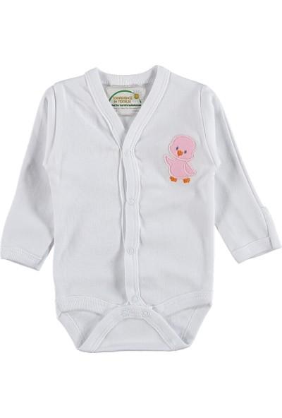 Poyraz Bebe Kız Çocuk Kundak Body Beyaz 0 - 3 Ay