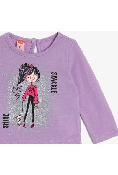Koton Kız Bebek Baskılı T-Shirt