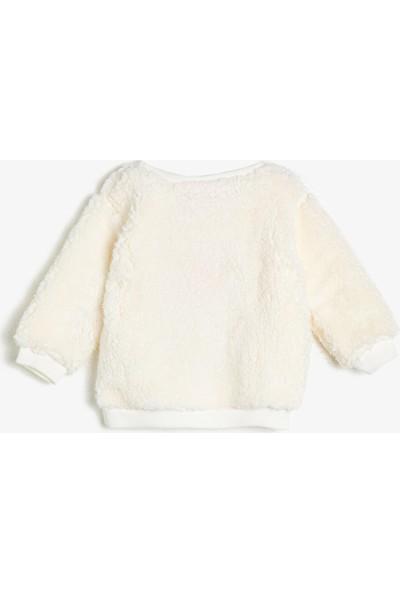 Koton Kız Bebek Baskılı Sweatshirt