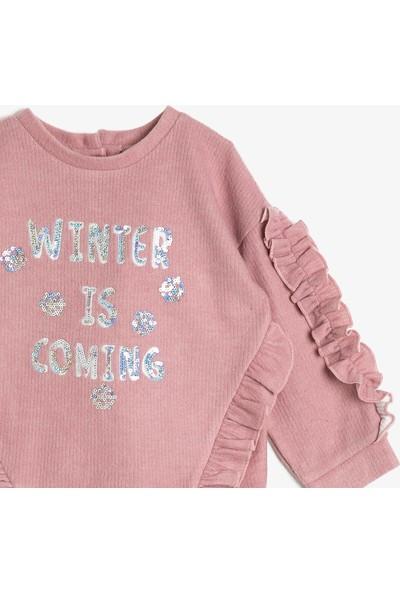 Koton Kız Bebek Pul Detaylı Sweatshirt