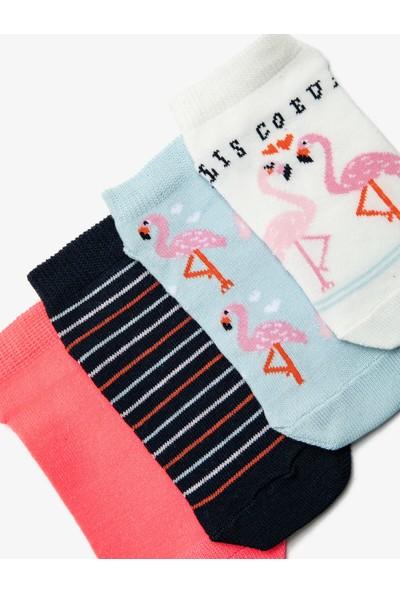 Koton Kız Çocuk 4'lü Kiz Çocuk Çorap