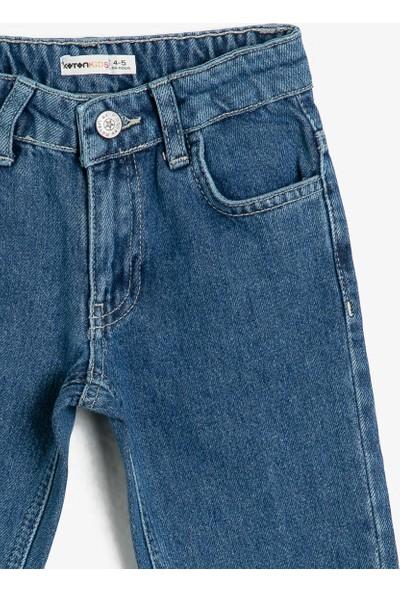Koton Kız Çocuk Cep Detayli Jean Pantolon
