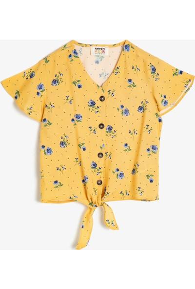 Koton Kız Çocuk Desenli Gömlek