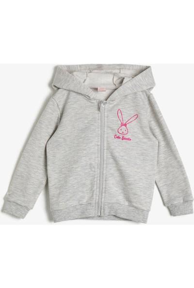 Koton Kız Bebek Sim Detayli Sweatshirt