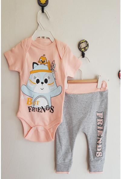 Baby Hi Kız Bebek Best Friend Baskılı Body Takım 6 Ay