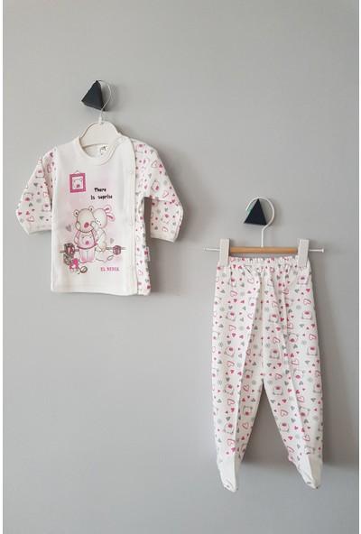 Juuta Kız Bebek 0-6 Ay Surprise Pijama Takımı 3 - 6 Ay