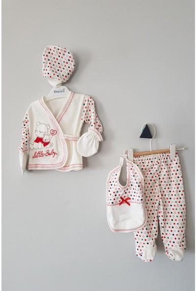 Juuta Kız Erkek Bebek Kutulu Yavru Ayı 5'li Zıbın Seti 0 - 1 Ay