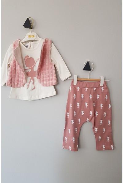 Deco Kız Bebek Peluşlu Balerin Üçlü Takım 12 - 18 Ay