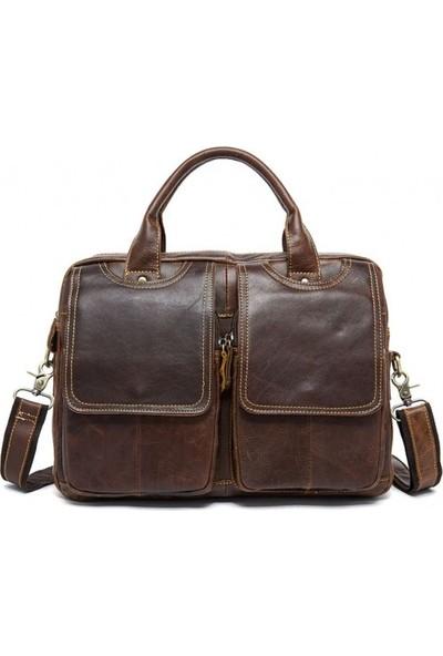 K&M King Men 2020 Trend (Genuine Leather) Erkek Çanta A4 Boy 14 İnç Laptop Evrak Çantası Farklı Tasarım