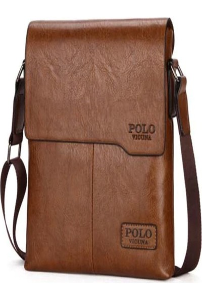 Vicuna Polo K&M King Men 2020 Trend Süper Kalite Vicuna Polo Deri (Pu) Erkek Dikey Çanta İş Gezi Seyahat Çanta