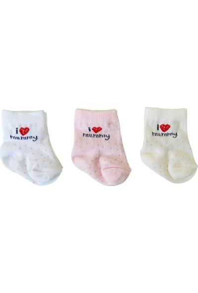 Bebengo 3'lü Soket Kız Bebek Çorabı 9509