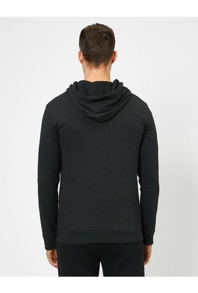 Koton Erkek Yazılı Baskılı Sweatshirt