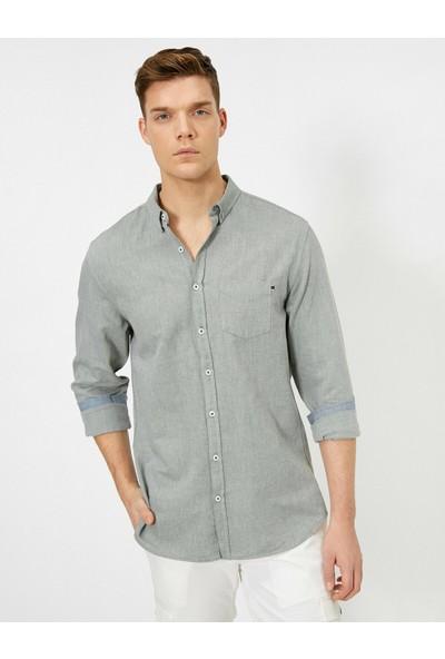 Koton Erkek Cep Detaylı Gömlek