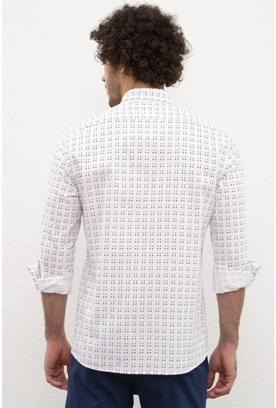 U.S. Polo Assn. Erkek Dokuma Gömlek 50219439-VR013