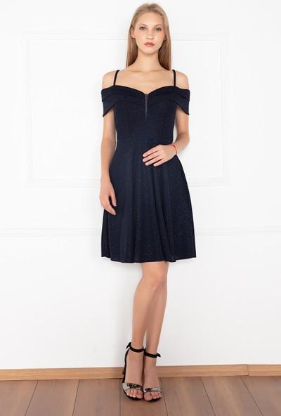 Kalopya Kadın Asos 13133 Simli Kısa Elbise