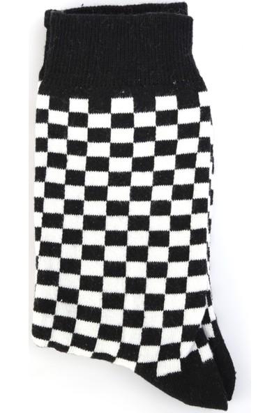 Nilumoda Dama Desenli Soket Çorap