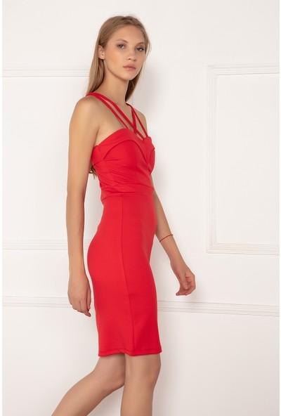 Kalopya Kadın İdil 13066 İp Askılı Kısa Elbise