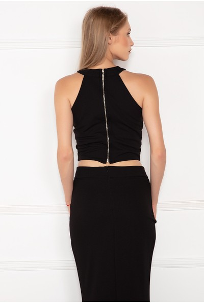 Kalopya Kadın İncili 0455 Bluz Ve Etek Takım Elbise