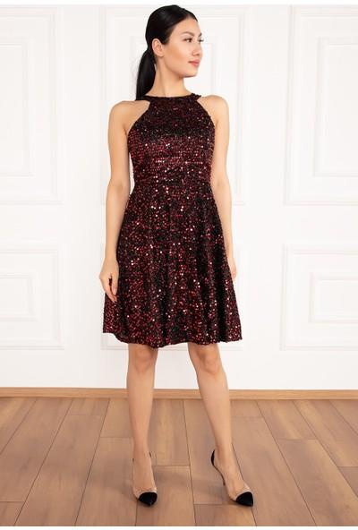 Kalopya Kadın Karmen 13170 Pul Payet Kısa Elbise