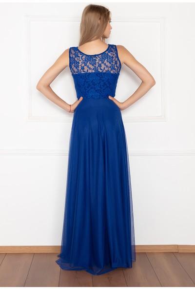 Kalopya Kadın Metiy 3380-4 Dantel Ve Şifon Elbise
