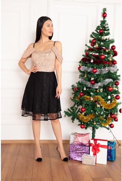Kalopya Kadın Nevan 13160 Pulpayaet Kısa Elbise