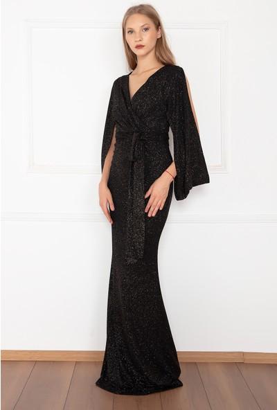 Kalopya Kadın Olypus13121 Simli Uzun Elbise