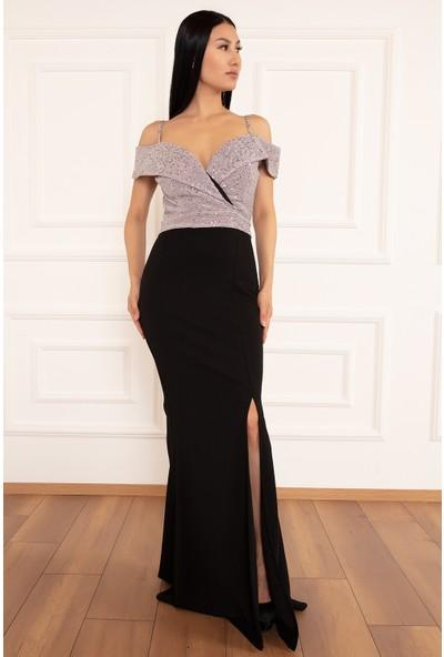 Kalopya Kadın Peige 13215 Krep Balık Elbise