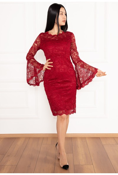 Kalopya Kadın Pety 13034 Dantel Kısa Elbise