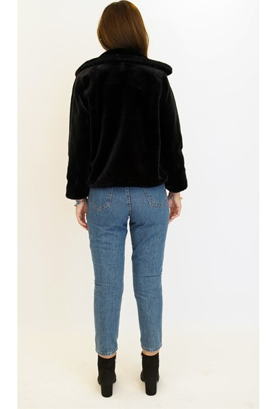 Anitabella Siyah Kürk Ceket